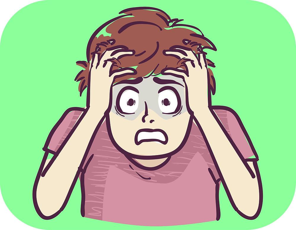 adolescent having a panic attack