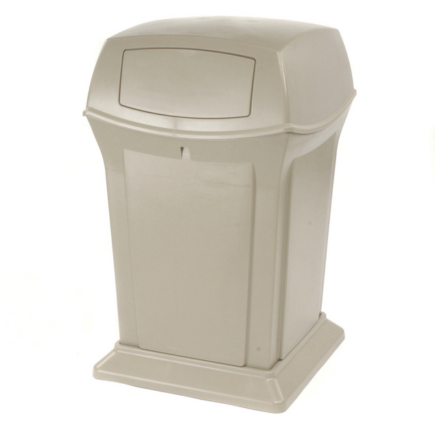 45 GAL TRASH CONTAINER WITH DOORS