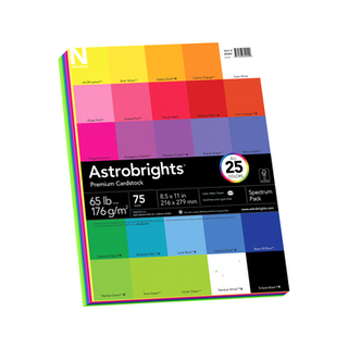 ASTROBRIGHTS 65# CARD STOCK