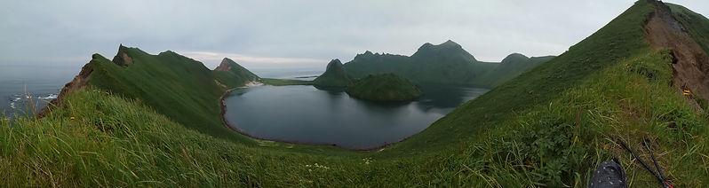 Бухта Кратерная, Ушишир, панорама