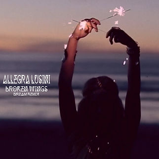 "copertina album di Allegra Lusini ""broken wings dream remix"""