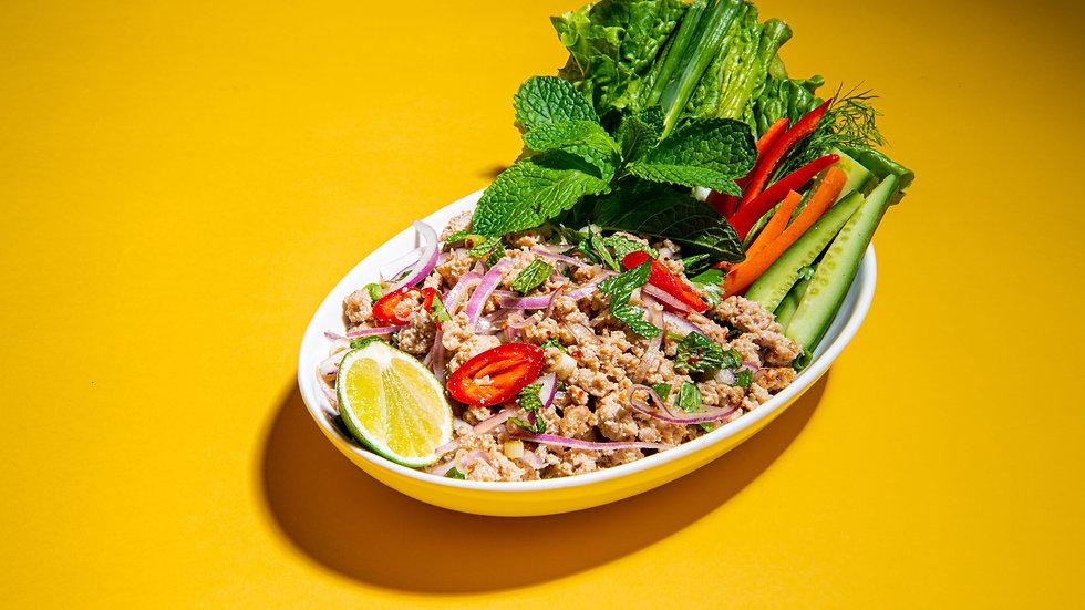 Thai Larb Spicy Chicken Salad