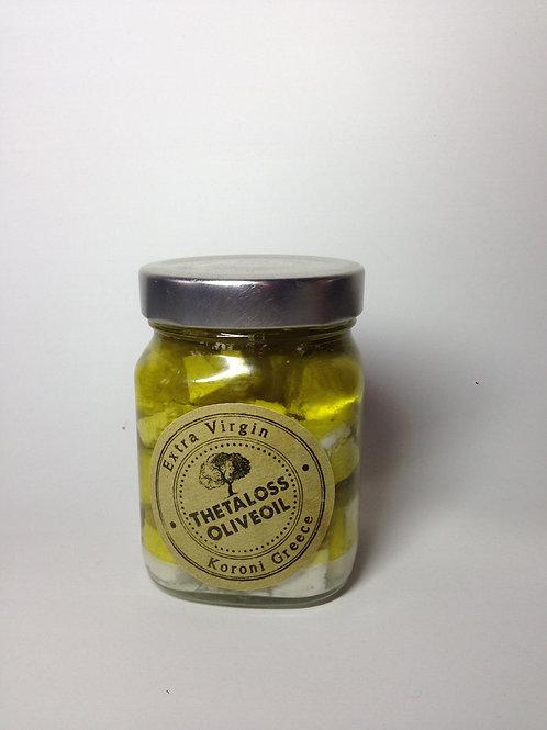 Feta in Thetaloss Olivenöl