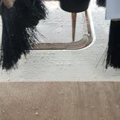 CNC machining rounded edge on wood