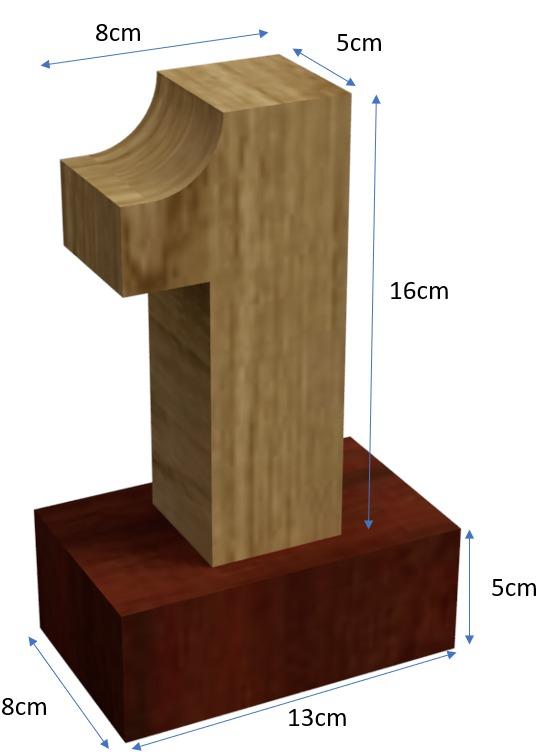 Custom-built wood trophies