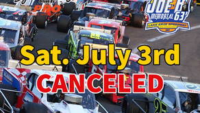"July 3rd ""Joe B Memorial 63"" Night at the Races canceled"