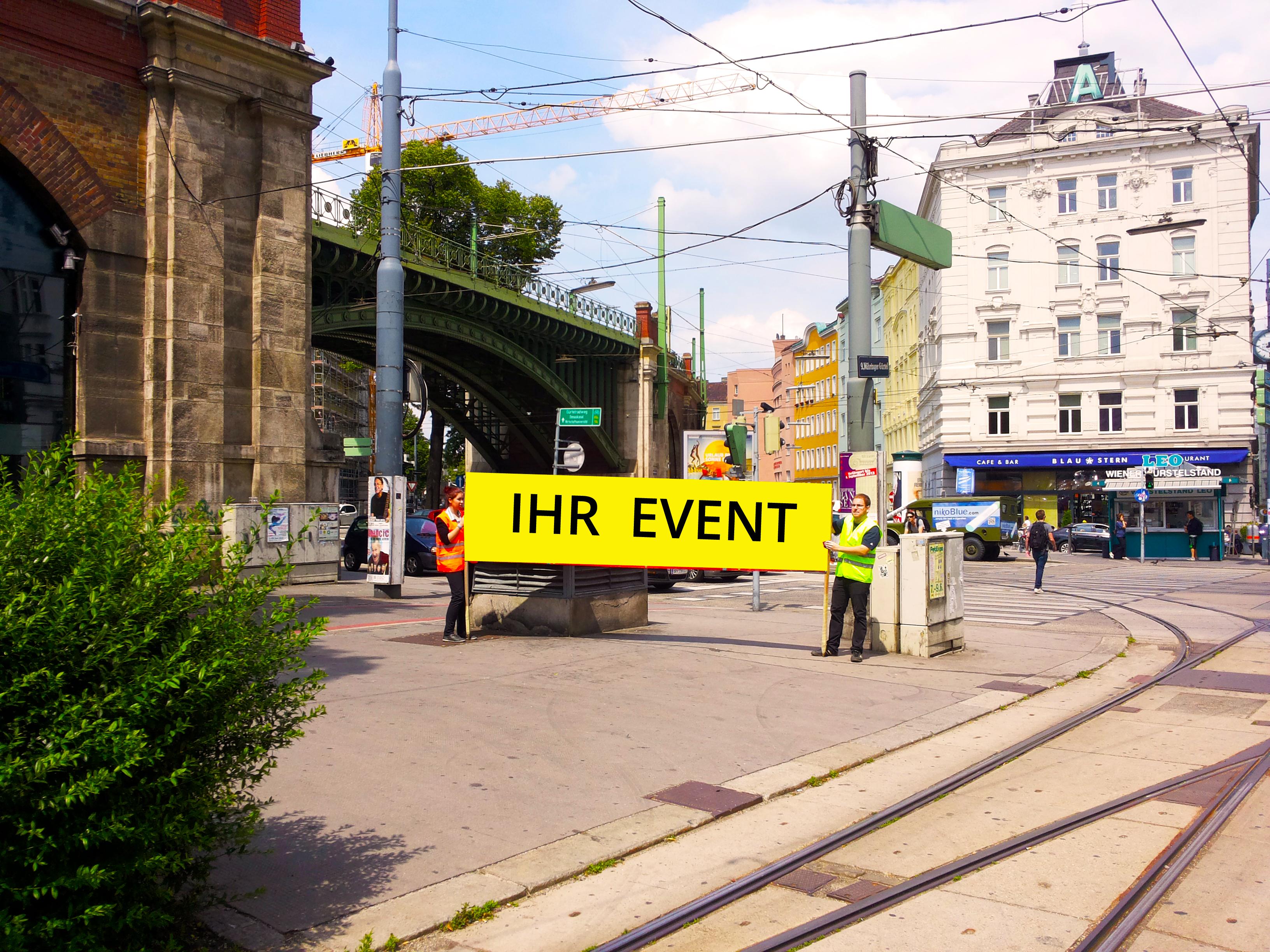 Werbeaktion Wien 1