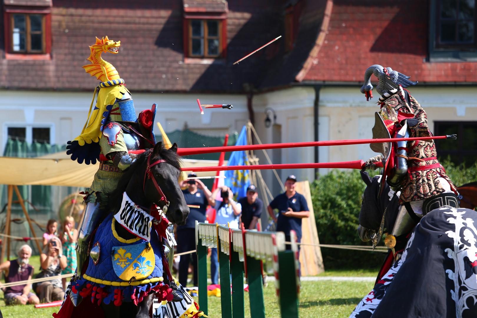 Kampfszene - Ritterturnier zu Pferde, 2018