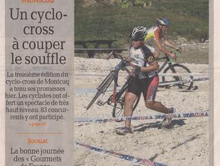 """Cyclo cross de Montcuq - Résumé """"La dépêche"""" et classements :"""