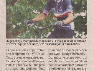 """Open Free VTT Trial Cahors - Présentation et résumé """"La Dépêche :"""