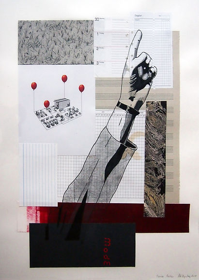 Diary, politics 40x50 cm