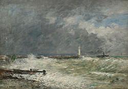 Eugène_Boudin,_Entrée_des_jetées_du_Havre_par_gros_temps,_1895