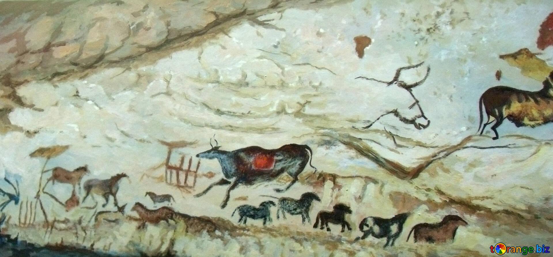 antiques-prehistoric-art-rock-painting-2
