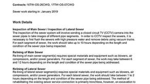 CONSTRUCTION - Sewer Rehabilitation Program in Ward 5