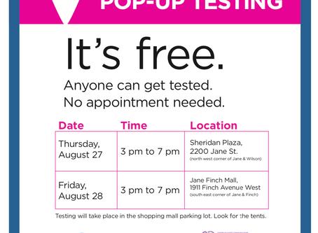 Pop-Up COVID-19 Testing Clinics on Jane St