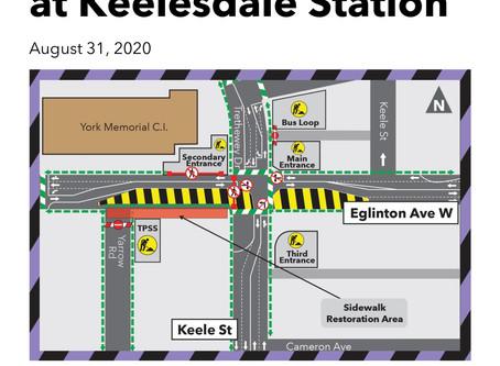 Sidewalk Restoration at Keelesdale Station