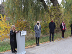 Federal funding announcement for Rockcliffe flood mitigation project.