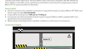 Keelesdale Manhole Construction March 18