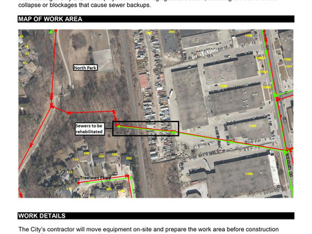 Sanitary and Storm Sewer Rehabilitation in North Park (581 Rustic Road)