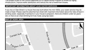 CONSTRUCTION - Watermain Replacement on Oak Street