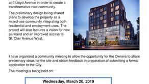 6 Lloyd Development - Public Meeting