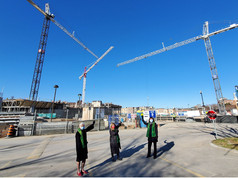 West Park Healthcare Centre 'name the crane' contest - meet Wychwood, Phoenix and Thunderbird.
