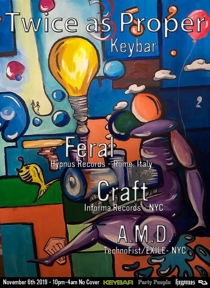 Twice as Proper - Keybar with Feral Nov