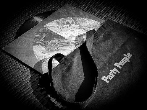 Black Party People Tote Bag