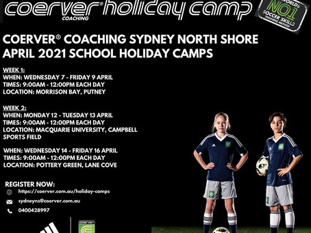 Coerver Holiday Camps - April 2021
