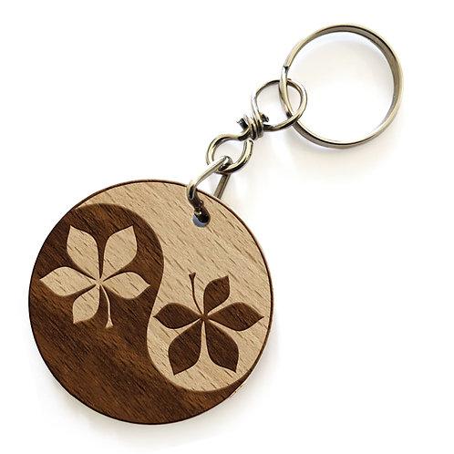 Porte-clés marronnier YinYang
