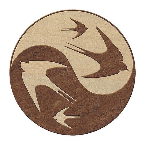 Dessous-de-plat Hirondelles Yin Yang
