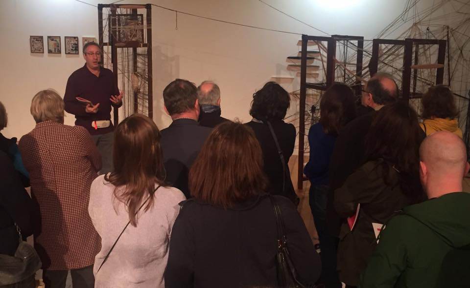 Nick Miller giving a tour of The RDS Visual art awards, 2017