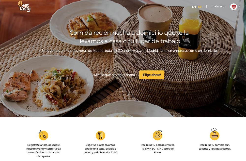 En la página web de Eattasty harás tu pedido cómodamente.