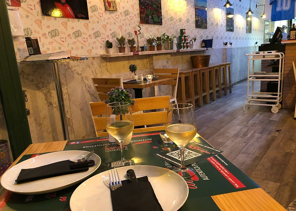 Interior de Il pizzaiolo di Scampia.