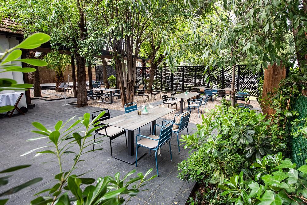 Terraza de El jardín de Alma.