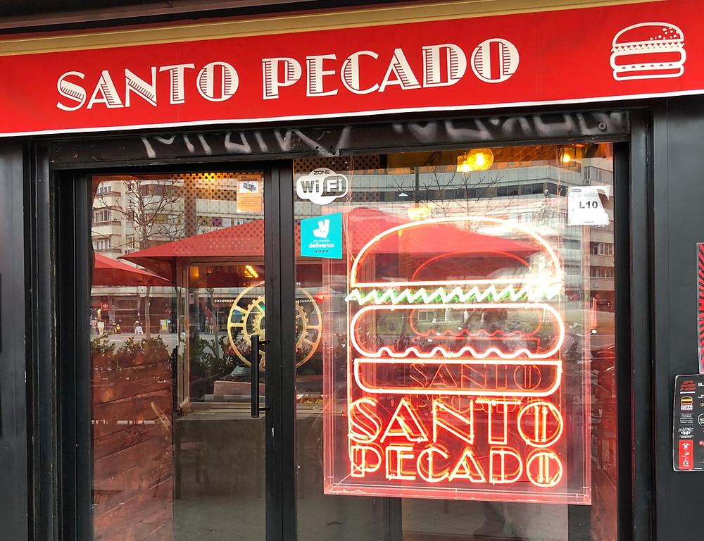 Santo Pecado, hamburguesas recomendadas en Madrid por www.madridmeenamora.com