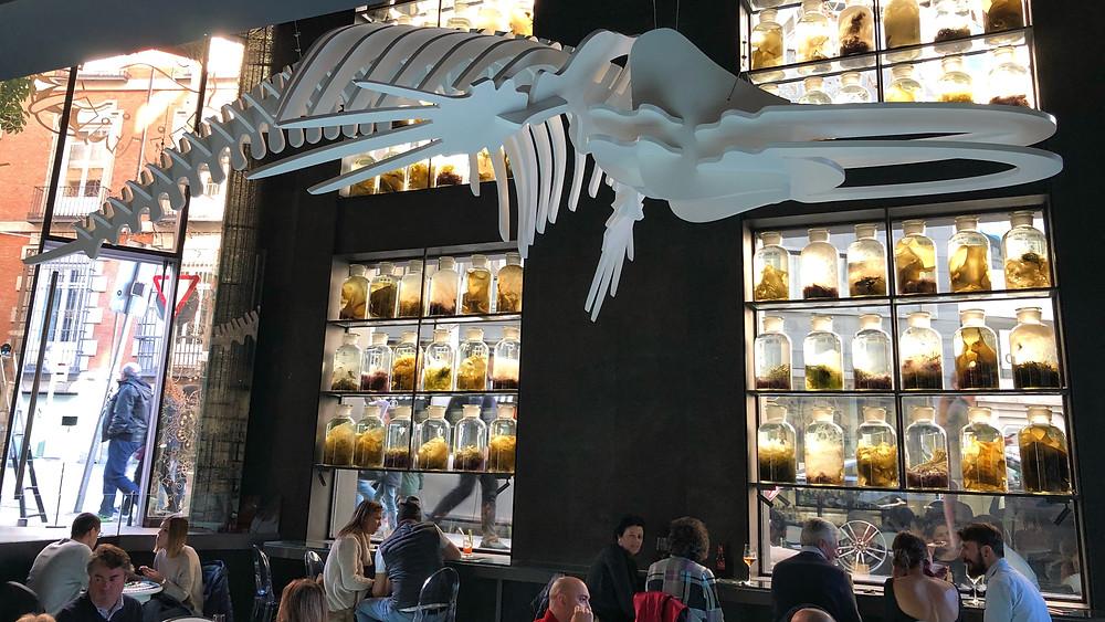Glass Bar by Ángel León, restaurante recomendado en Madrid por www.madridmeenamora.com