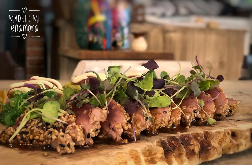 Si te gusta el Tataki de atún tienes que probar el de Amicis.
