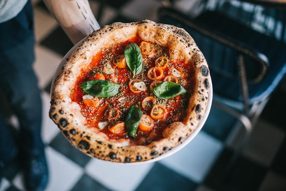 Pizza margherita de Grosso Napoletano.