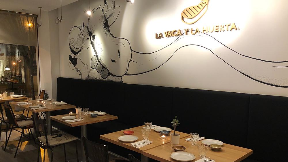 La Vaca y la Huerta, restaurante recomendado en Madrid por www.madridmeenamora.com