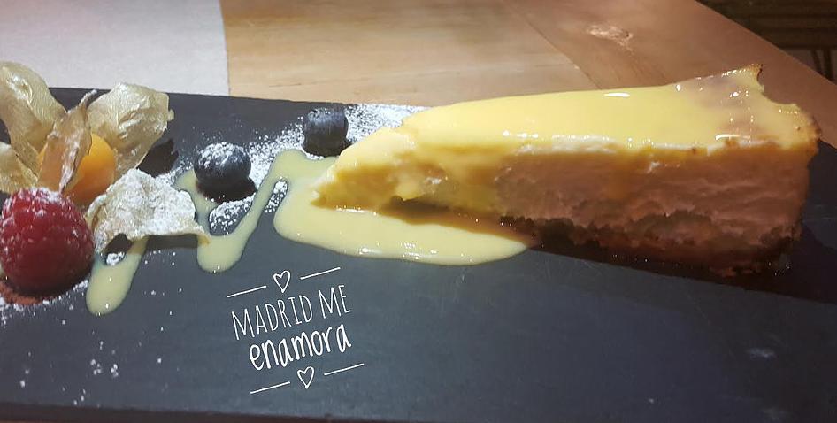 Tarta de queso de Condumios recomendada por www.madridmeenamora.com