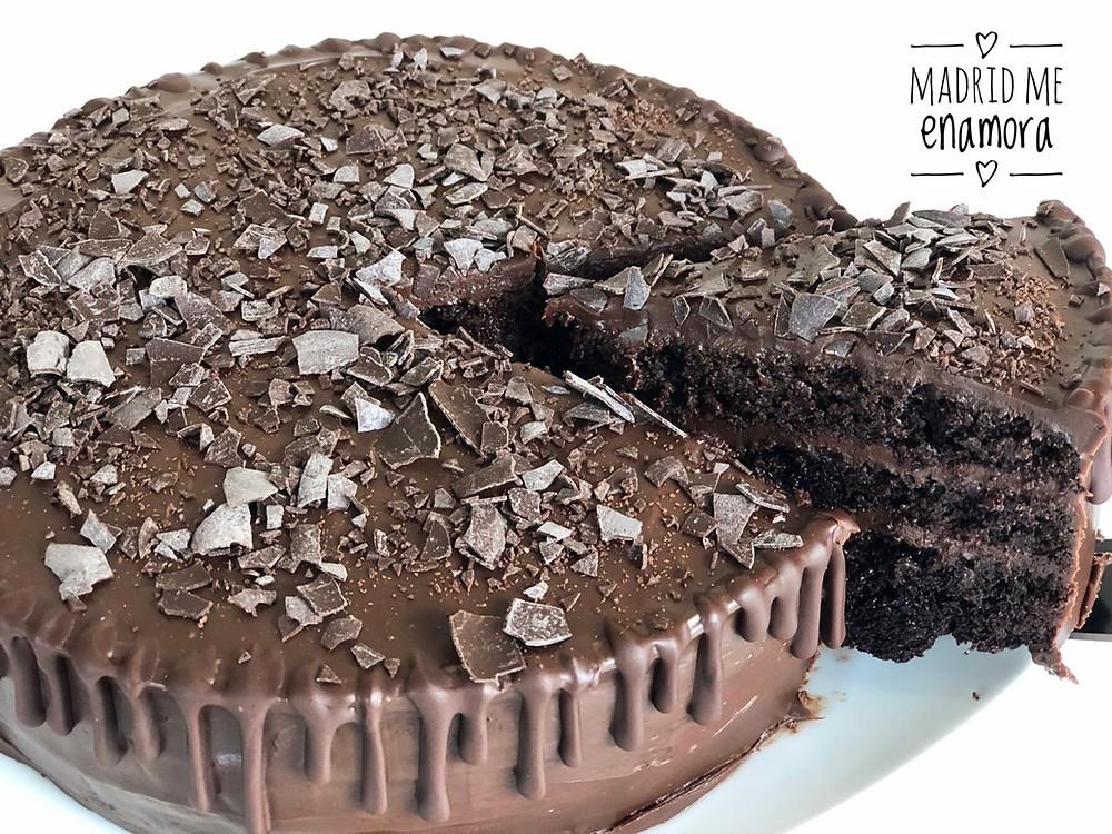 """""""Muerte por chocolate"""", esta tarta no podía tener un nombre mejor."""