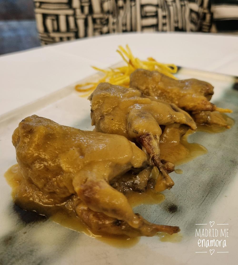 La codorniz estofada de Villoldo es uno de los platos imprescindibles.