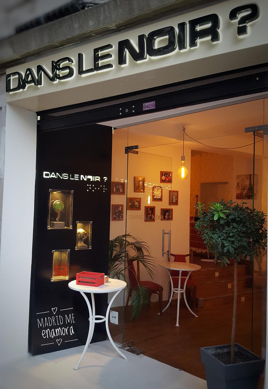 Dans le noir, restaurante recomendado por Madrid me enamora
