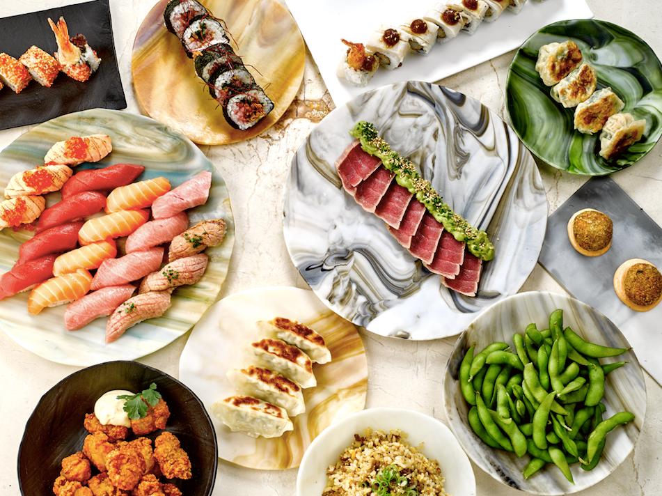 La oferta de sushi de Nomomoto es muy variada y está delicioso.