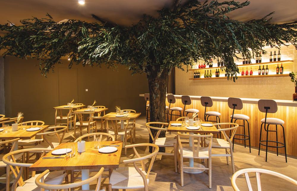 Comedor del restaurante Lettera Trattoria Moderna.