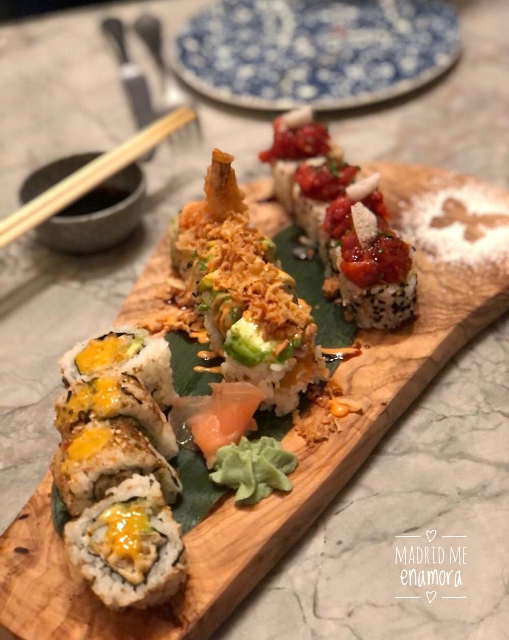 Los uramaki rolls estaban deliciosos.