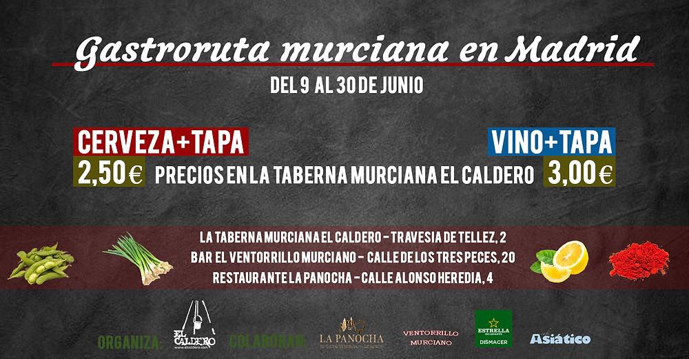 Gastroruta murciana en Madrid, plan recomendado por www.madridmeenamora.com