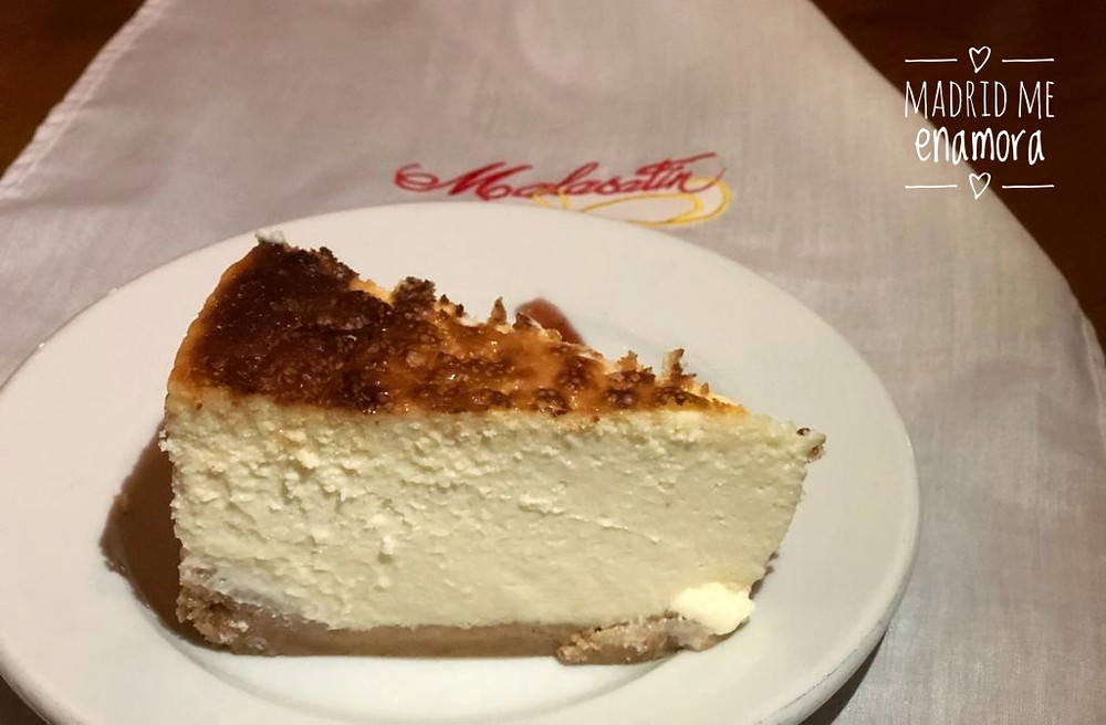 La cremosa tarta de queso de Malacatín fue nuestro perfecto punto final.