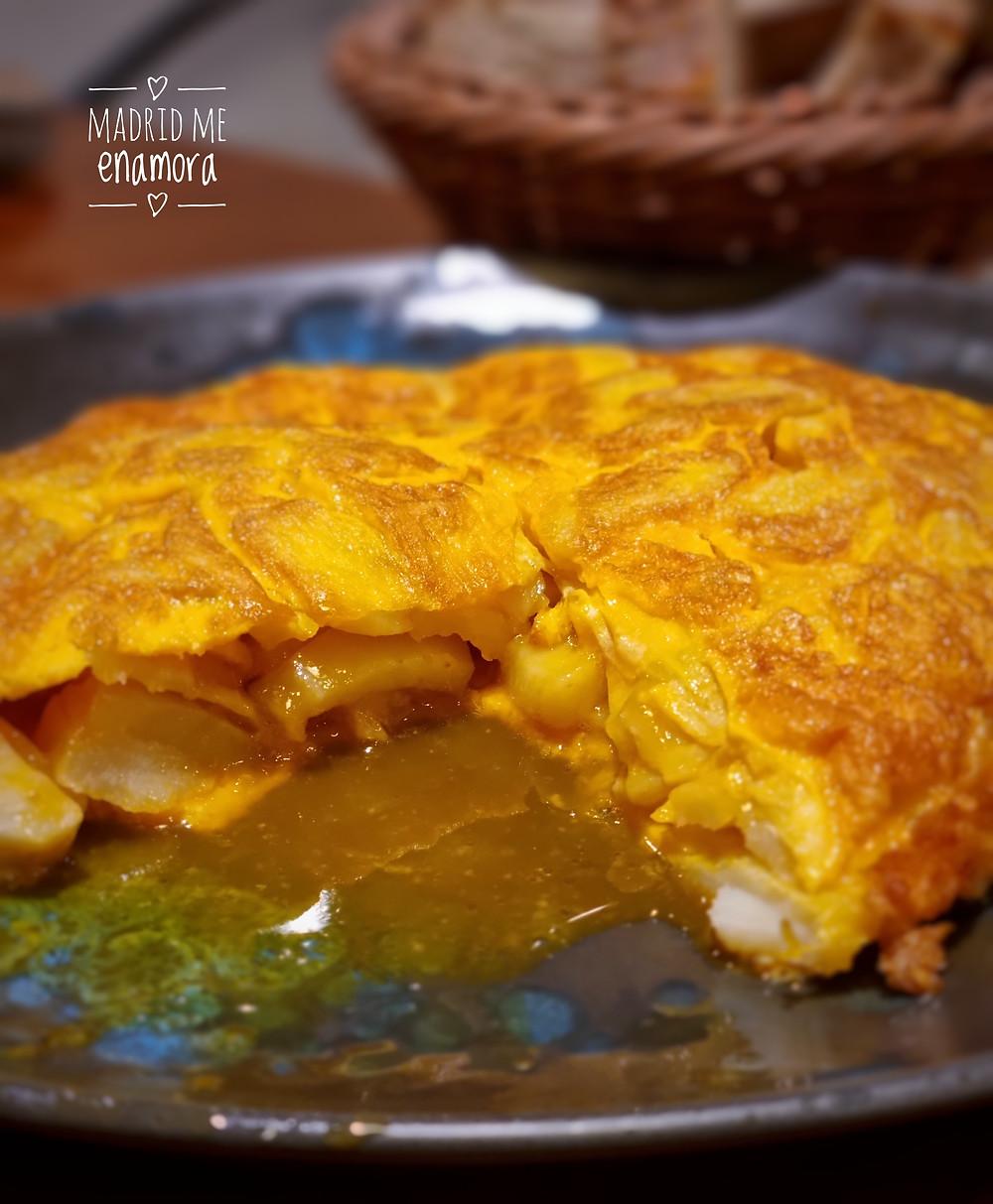 La Tortilla al estilo de Betanzos de Volandeira está deliciosa.